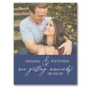 Artistic Script Save the Date Magnet Icon