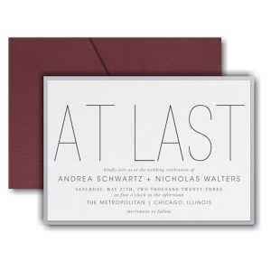 At Long Last Layered Pocket Wedding Invitation Icon