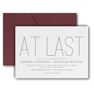 At Long Last Pocket Wedding Invitation Icon