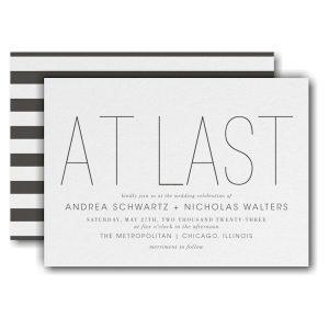 At Long Last Wedding Invitation Icon