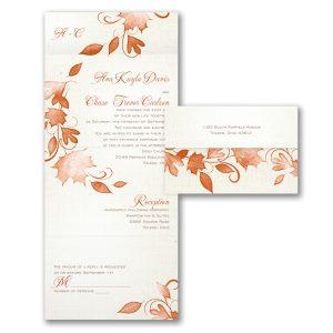 Autumn Rustic Seal 'n Send Wedding Invitation Icon