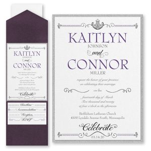 Avenue of Dreams Layered Pocket Wedding Invitation Icon