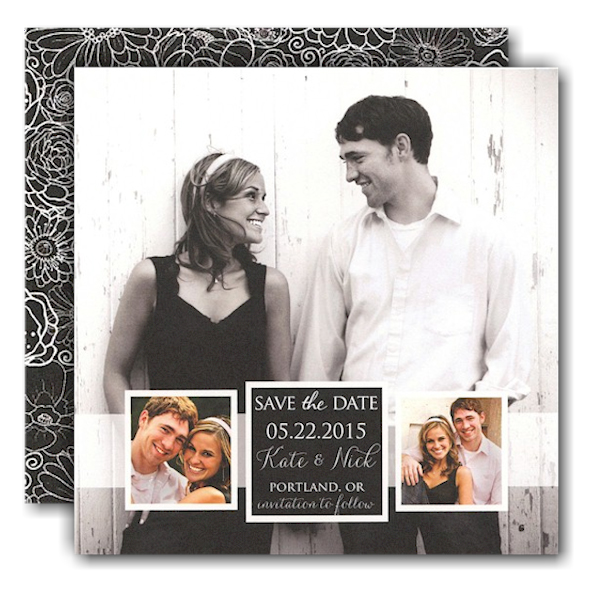 Band of Photos Save the Date Card
