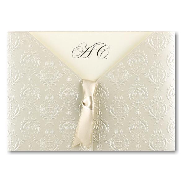 Baroque Detail Wedding Invitation