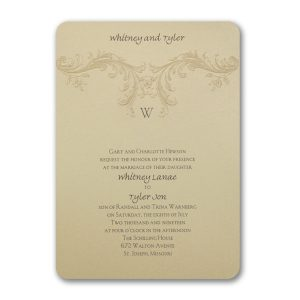 Baroque Elements Wedding Invitation Icon