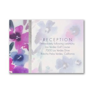 Beautiful Blooms Reception Card