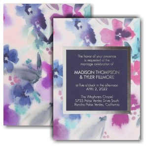 Beautiful Blooms Wedding Invitation