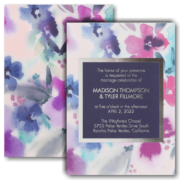 Beautiful Blooms Wedding Invitation Icon