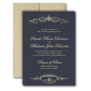 Beautiful Crest Pocket Wedding Invitation Icon