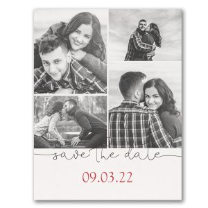 Beautiful Date Save the Date Postcard Icon