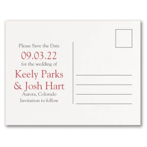 Beautiful Date Save the Date Postcard alt