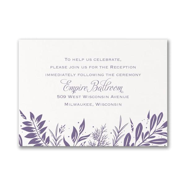Beautiful Greenery Reception Card