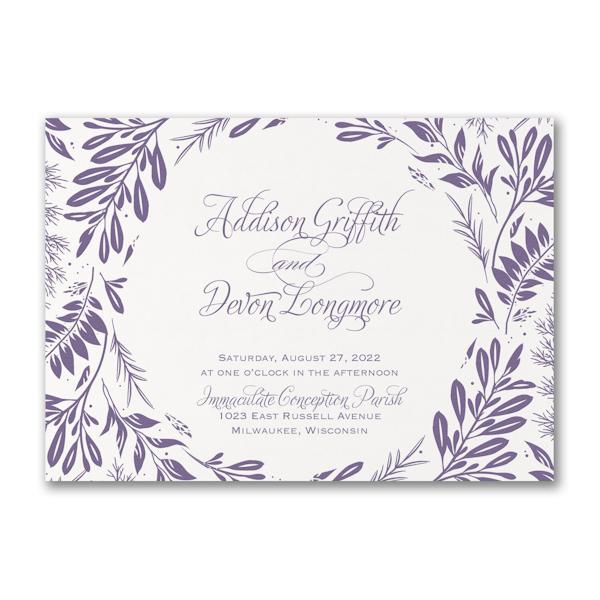 Beautiful Greenery Wedding Invitation Icon