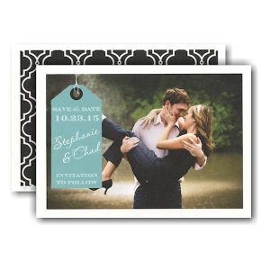 Beautiful Tag Photo Save the Date Card Icon