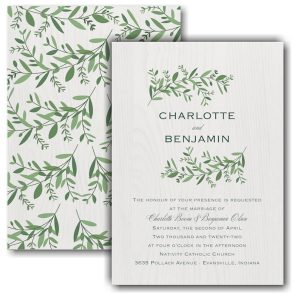 Beautiful Vines Wedding Invitation Icon