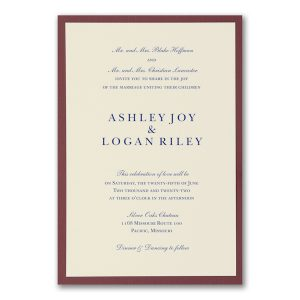 Berry Beauty Wedding Invitation Icon