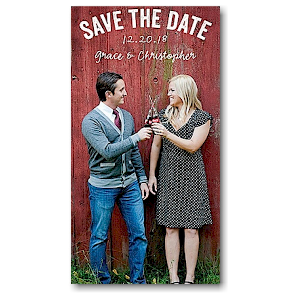 Bicycles Chalkboard Save the Date Magnet