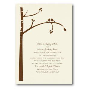 Birch Tree Love in Ecru Wedding Invitation Icon