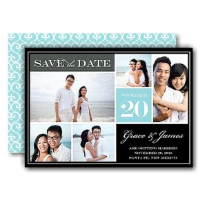 Block Blue Save the Date Card Icon