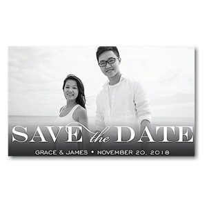 Block Blue Save the Date Magnet Icon