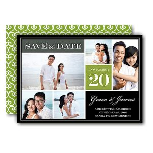 Block Green Save the Date Card Icon