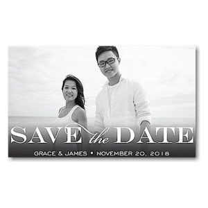 Block Green Save the Date Magnet