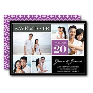 Block Purple Save the Date Card Icon