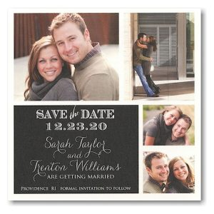 Block Simplicity Photo Save the Date Card Icon