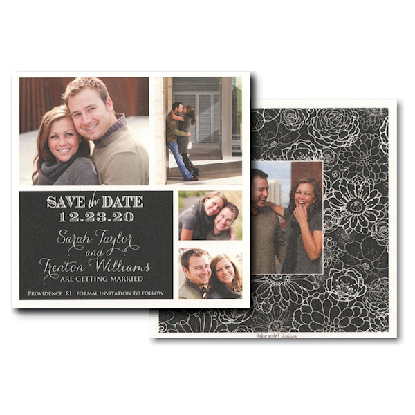 Block Simplicity Photo Save the Date Card