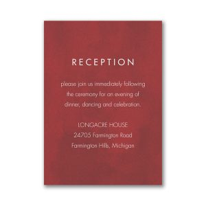 Bloom Bright Layered Reception Card