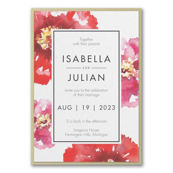 Bloom Bright Layered Wedding Invitation Icon