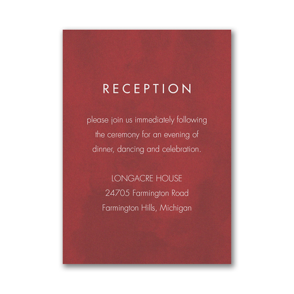 Bloom Bright Pocket Reception Card