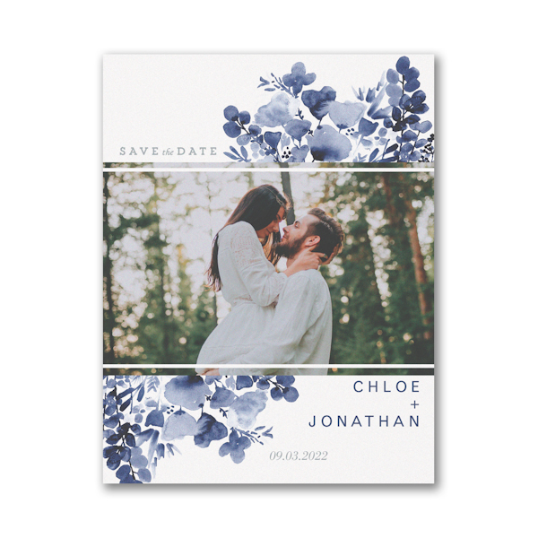 Blooming Date Save the Date Magnet