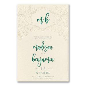 Blooming Elegance in Ecru Wedding Invitation Icon