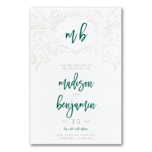 Blooming Elegance in White Wedding Invitation Icon