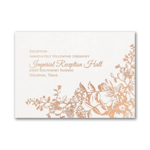 Blooming Flowers Reception Card