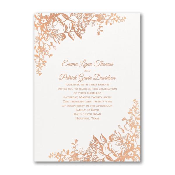 Blooming Flowers Wedding Invitation