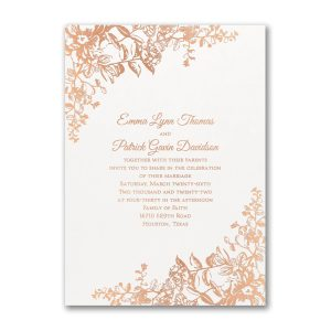 Blooming Flowers Wedding Invitation Icon