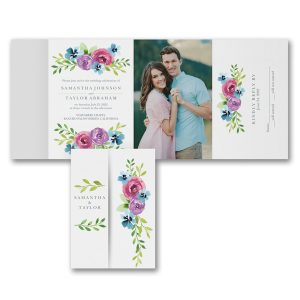 Blooming Love All in One Wedding Invitation