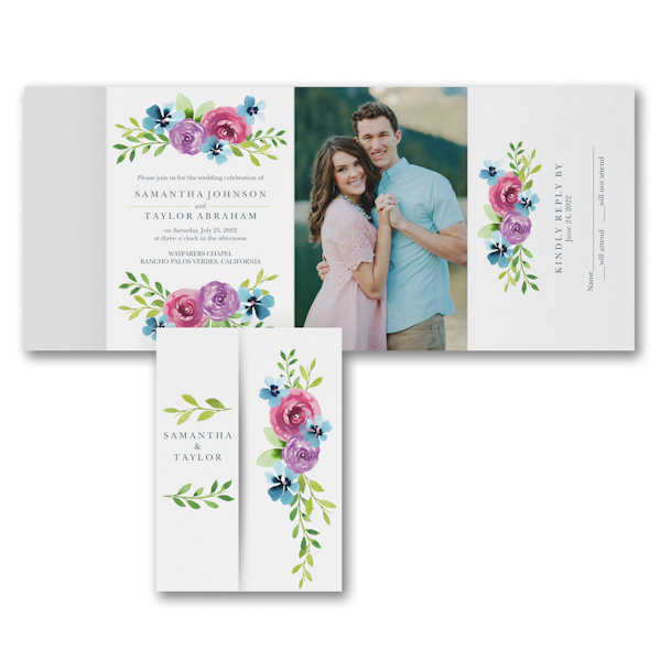 Blooming Love All in One Wedding Invitation Icon