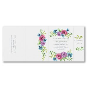 Blooming Love All in One Wedding Invitation alt