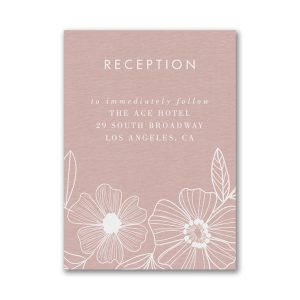 Blossoming Border Layered Reception Card