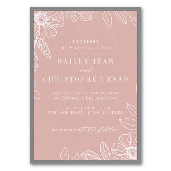 Blossoming Border Layered Wedding Invitation