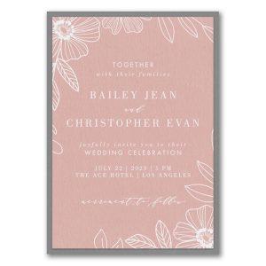 Blossoming Border Layered Wedding Invitation Icon