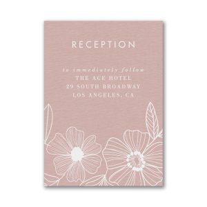 Blossoming Border Reception Card
