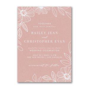 Blossoming Border Wedding Invitation Icon