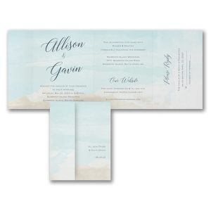 Blue Skies All in One Wedding Invitation Icon