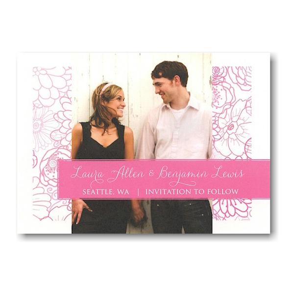 Blush Pattern Save the Date Postcard Icon