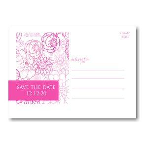 Blush Pattern Save the Date Postcard alt