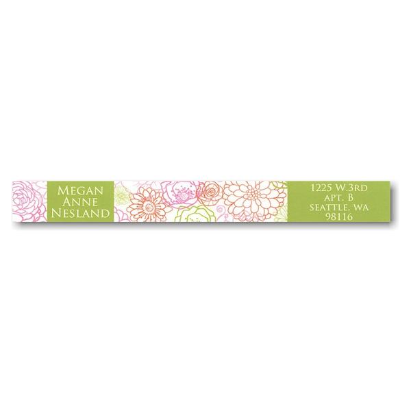 Blush of Color Photo Skinny Address Label